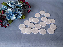 Фетровая заготовка круг белый d 2.5 см.,  (100 шт)