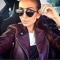 Женские стильные солнцезащитные черные очки