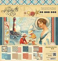 Набор бумаги By the Sea, 30х30 см, 24 листов