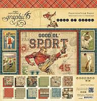 Набор бумаги Good Ol' Sport, 30х30 см, 24 листа