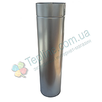 Труба-сэндвич дымоходная 110 мм; 0.8 мм; 100 см; нержавейка/оцинковка AISI 304 - «Stalar»