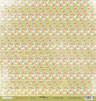 Бумага для скрапбукинга Фруктовый Сад, Кексы, 30х30 см