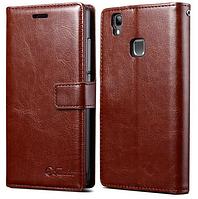 Кожаный чехол-книжка для DOOGEE X5 Max коричневый