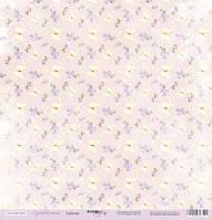 Бумага для скрапбукинга Сиреневые мечты, Бабочки, 30х30 см