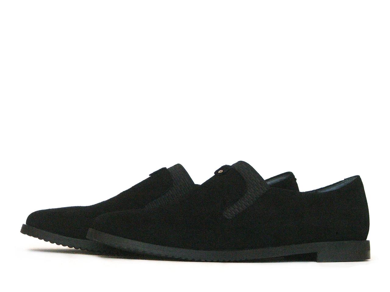 Женские замшевые туфли с резинками