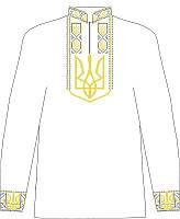 СВЮБ-12. Заготовка  Дитяча сорочка для хлопчика лляна біла.