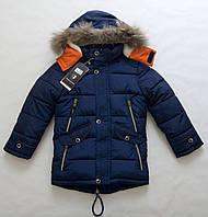 Теплая зимняя куртка мальчику 3 - 7 лет