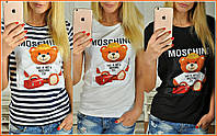"""Женская модная футболка """"Moschino мишка"""" (3 цвета)"""