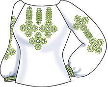 СВЖБ-64. Заготовка Жіноча сорочка лляна біла