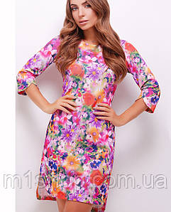 Женское трикотажное платье с цветочным принтом (1740mrs)
