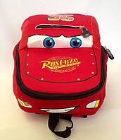 """Рюкзак игрушка детский мягкий"""" Тачки Маквин """" из неопрена для школы,детсада,в поездку красного цвета"""