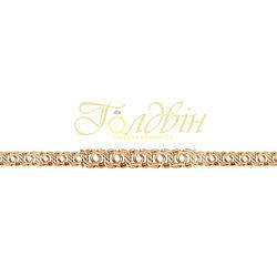 Золотой браслет плетение косичка Бр605