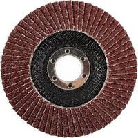 Круг лепестковый торцевой, Ø 125 Р40 Атака (коричневый)