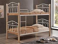 Двухъярусная кровать Миранда, детская двухъярусная кровать, цвет крем