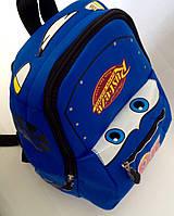 """Рюкзак игрушка детский мягкий"""" Тачки Маквин"""" из неопрена для школы,детсада,в поездку синего цвета"""