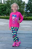 Теплые лосины на девочку  (начес) (80, 98, 110, 122 см), фото 1