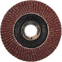 Круг лепестковый торцевой, Ø 125 Р100 Атака (коричневый)