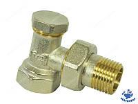 Кран радиаторный нижний угловой с терморегулировкой 1/2х1/2 KOER