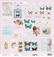 Бумага Butterflies, Happiness, 30х30 см