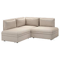 VALLENTUNA 3-местный угловой диван-кровать, Оррста бежевый