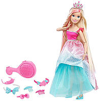 Кукла Barbie cказочно-длинные волосы блондинка (Endless Hair Kingdom Princess) 43см, Mattel