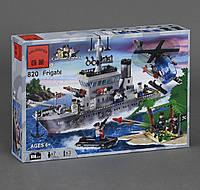 Конструктор Brick Военный корабль 614 деталей.