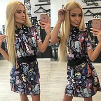 Женское стильное платье-рубашка с поясом  Dolce & Gabbana + (Большие размеры)