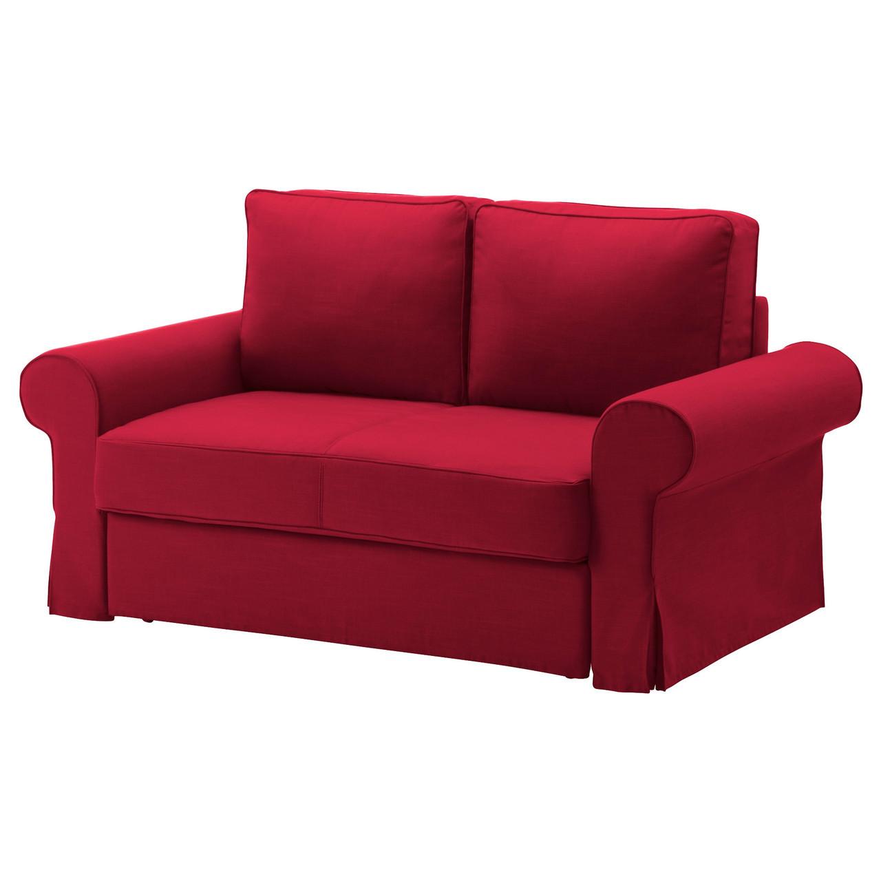 Backabro чехол на 2 местный диван кровать Nordvalla красный цена 5