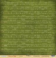 Бумага для скрапбукинга Christmas Night, Мелодия, 30х30 см