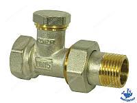 Кран радиаторный прямой нижний с терморегулировкой 1/2х1/2 KOER