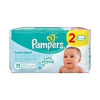 Детские влажные салфетки Pampers Fresh Clean Duo, 128 шт  ТМ: Pampers