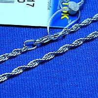 Стильный серебряный браслет Корда 17 см 902023040