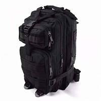 Тактический Рюкзак вместимость 25 литров Взрослая, Унисекс, Городской, Черный