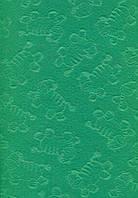 Фетр листовой с тиснением зебра, зеленый, 21.5х28 см, 180 г/м2