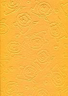 Фетр листовой с тиснением лев, желтый, 21.5х28 см, 180 г/м2