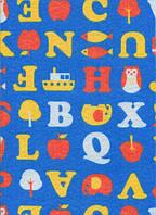 Фетр листовой, принт буквы на синем, 21.5х28 см, 180 г/м2