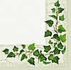 Салфетка для декупажа Листья на зеленом, 33х33 см