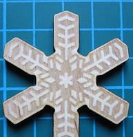 Деревянный чипборд Снежинка 5, 46х41 мм