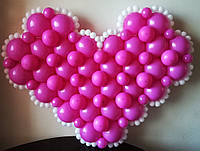 """Сердце из воздушных шаров с """"кружевами"""""""