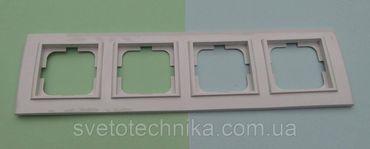 Четверная рамка OVIVO Mina горизонтальная  (белая)