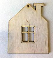 Лазерная вырубка  Дом с окном, 8х10