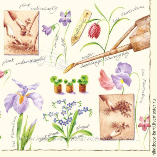 Салфетка для декупажа Цветы №3, 33х33 см