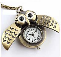 Сова. Карманные часы на цепочке. Кулон на шею