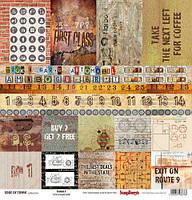 Бумага для скрапбукинга EDGE OF TOWN, Cards 2, 30х30
