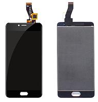 Дисплей Meizu M3s мейзу с тачскрином в сборе, цвет черный.