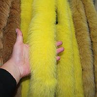 Меховая опушка из песца жёлтая 70 см