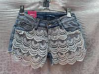 Короткие женские шорты с кружевом