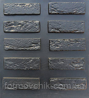 """Форма для изготовления искусственного камня """"Кирпич древний"""", фото 2"""