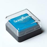 Чернильная подушечка Голубой, 2,5х2,5 см