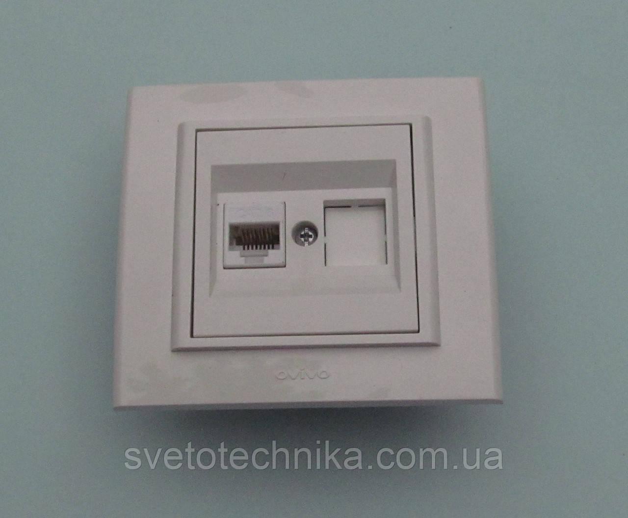 Розетка для компьютераOVIVO Mina(белого цвета)